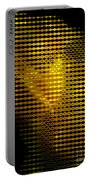 Black And Yellow Abstract I Portable Battery Charger