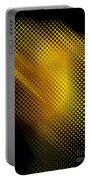 Black And Yellow Abstract II Portable Battery Charger