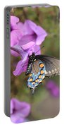 Black Blue And Orange Butterfly V3  Portable Battery Charger