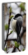 Black-capped Chickadee On Staff Portable Battery Charger