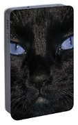Black Cat Blue Eyes Portable Battery Charger