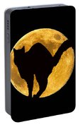 Black Cat Moon Portable Battery Charger