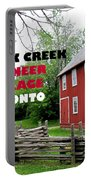 Black Creek Poster Portable Battery Charger