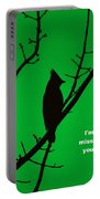 Black  On Green Portable Battery Charger
