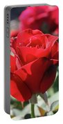 Black Rose Red Portable Battery Charger