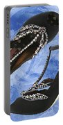 Black Satin And Crystal Dragonfly Pumps Portable Battery Charger