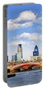 Blackfriars Bridge With London Skyline Portable Battery Charger