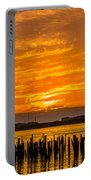 Blazing Humboldt Bay Sunset Portable Battery Charger