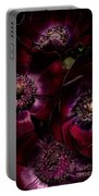 Blood Red Anemones Portable Battery Charger