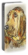 Bloodhound-watercolor Portable Battery Charger