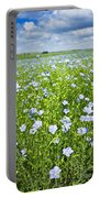 Blooming Flax Field Portable Battery Charger