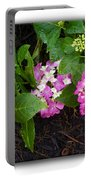 Blossoms And Rain Drops Portable Battery Charger