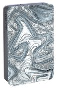 Blue Abstract Art Portable Battery Charger