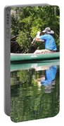 Blue Amongst The Greens - Canoeing On The St. Marks Portable Battery Charger