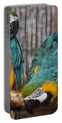 Blue And Gold Macaw Pair Portable Battery Charger