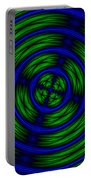 Blue And Green Abstract Portable Battery Charger