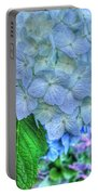 Blue And Green Flora Portable Battery Charger
