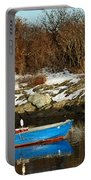 Blue And Red Boat Portable Battery Charger