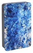 Ocean - Blue Abstract Art Paintingi Portable Battery Charger