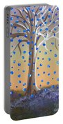 Blue-blossomed Wishing Tree Portable Battery Charger