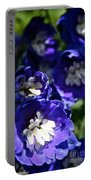 Blue Blossoms Portable Battery Charger