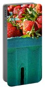 Blue Box Portable Battery Charger by Susan Herber