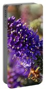 Blue Brush Bloom Portable Battery Charger