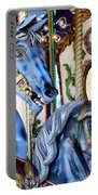 Blue Carousel Merry Go Round Horses Portable Battery Charger