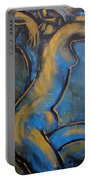 Blue Caryatid - Nudes Gallery Portable Battery Charger