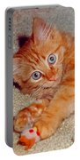 Blue-eyed Kitty Portable Battery Charger
