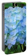 Blue Garden Flower Portable Battery Charger