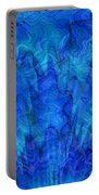 Blue Glass - Abstract Art Portable Battery Charger by Carol Groenen