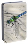 Blue-green Dragonfly Portable Battery Charger