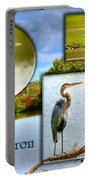 Blue Heron Pose Portable Battery Charger