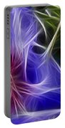 Blue Hibiscus Fractal Panel 1 Portable Battery Charger by Peter Piatt