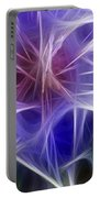 Blue Hibiscus Fractal Panel 5 Portable Battery Charger