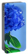 Blue Hortensia Hydrangea Portable Battery Charger