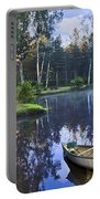 Blue Lake Portable Battery Charger by Debra and Dave Vanderlaan