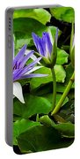 Blue Lilies Portable Battery Charger