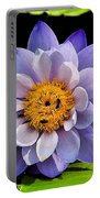 Blue Lily Portable Battery Charger