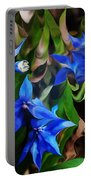 Blue Manipulation Portable Battery Charger by David Lane
