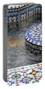 Blue Mosaic Fountain I Portable Battery Charger