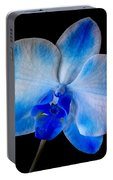 Blue Orchid Bloom Portable Battery Charger