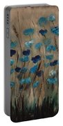 Blue Poppies And Gold Wheat Portable Battery Charger