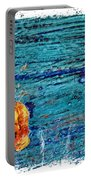 Blue Rusted Steel Painted Background Portable Battery Charger
