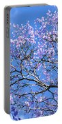 Blue Sky And Jacaranda Blossoms Portable Battery Charger