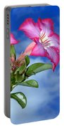 Blue Sky Pink Flower Portable Battery Charger