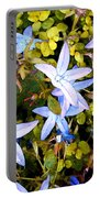 Blue Star Flowers Portable Battery Charger