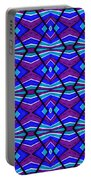 Blue Turquoise And Purple Portable Battery Charger