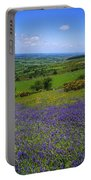 Bluebell Flowers On A Landscape, County Portable Battery Charger